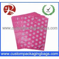 Quality Reusable Die Cut Handle Printed Plastic Bags With Side Seal For Shopping for sale
