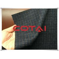 Small Blue and Yellow 1cm Plaid / Tartan Wool Fabric Autumn / Winer Suit Blazer Fabric Manufactures