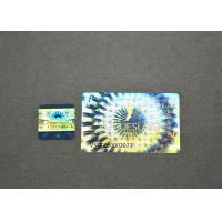 China Private Digital Scratch 3d Hologram Sticker , 25u Tamper Proof Hologram Stickers on sale