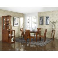 Nanmu solid wood Dining room furniture 1.35m flexible Round table and Chairs Tall wine cabinet with buffet Manufactures