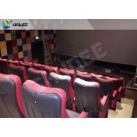 Red 4D Movie Theater Simulator System Equipment With Motion Chair 3 / 4 / 5 Seats A Platform Manufactures
