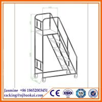 China Warehouse Step Ladder Stainless Steel Industrial Ladder on sale