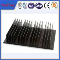 Black anodizing extrusion aluminum heat sinks profiles with cnc drilling processing Manufactures