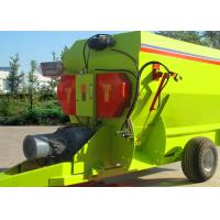 China 7cbm TMR Feed Mixer , Fixed Feed Mixer For Mixing Coarse Fodder on sale