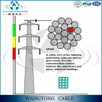High quality aerial aluminum clad steel wire 48 core optical fiber cable opgw for Power Transmission Line Manufactures