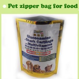 Stand up pet food bag plastic wholesale, laminated bag for pet food Manufactures
