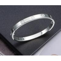 fashion jewelry luxury silver plated stainless steel screw bracelet with crystal Manufactures