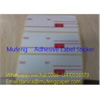 Printed Adhesive Backed Paper Roll , Direct Thermal Transfer Labels SGS Approval Manufactures