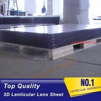 20 LPI 120x240 lenticullar flip sheet with large format 3D lenticular plastic sheets for Flip effect printing Canada Manufactures
