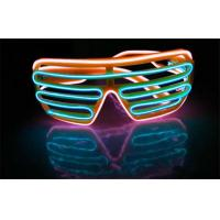 2 * AAA Battery Operated Neon Shutter Framed Equalizer EL Glasses With Two Different Wire Colors Manufactures