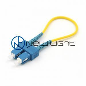China Single Mode Yellow G657A2 Fiber Optic Loopback on sale
