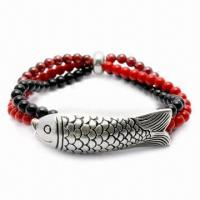 Garnet Bracelet, Customized Colors Available, Made of 925 Silver Material  Manufactures