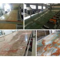 Compact PVC / Marble / Plastic Board Extrusion Machine High Performance Manufactures