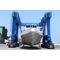Yello Blue Rubber Tyred Gantry Crane For Boat Yacht Handling Electric Motors Driving Manufactures
