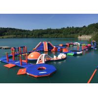 China 3 Layers Leak - Proof Inflatable Water Park Equipment With Slide Game on sale