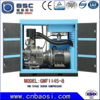 High Efficient 45kw Stationary High Volume Air Compressor 6.5-9.8m³ / Min Manufactures