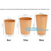 100% Biodegradable Disposable PLA Coated Coffee Paper Cup,9oz hot coffee paper cup with lids/ coffee to go cups/ oem dis Manufactures