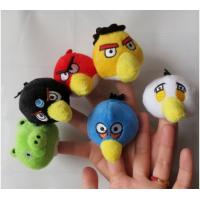 The Small Bird Plush Finger Puppets For Babies , Yellow / Red / Blue Manufactures