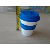 Double Wall Porcelain / Silicone Mug , Custom Silicone Products with Silicone Lid Manufactures