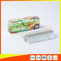Clear Reclosable Plastic Food Storage Bags Zip Seal With Private Lable Manufactures