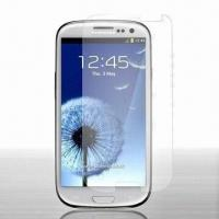 Ultra-thin Screen Protector, Perfectly Fits Samsung Galaxy S3, w/ Considerable Degree of Flexibility Manufactures