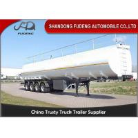Four Axles Fuel Tanker Semi Trailer 55000 Liters carbon steel material