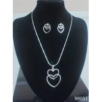 Custom American Standard Fashion Navel Jewelry Crystal Necklace and Earring Set for Gift Manufactures