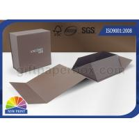 Logo Printing Art Paper Gift / Watch Packaging Boxes , Foldable Packaging Paper Box Manufactures