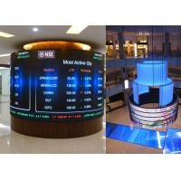 Quality P3.91mm Indoor Curved Shape LED Screen Outdoor Flexible LED Video Wall Display for sale