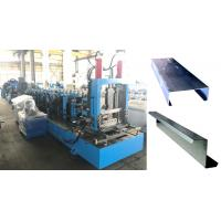China Reliable Steel Frame Purlin Roll Forming Machine Easy Using Adopt PLC Control System on sale