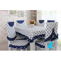 China Dot design cotton dining tablecloth and chair cover set wholesale, table linens supply, on sale