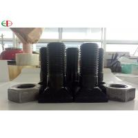EB567 High Strength Chrome Nuts And Bolts For Mine Mill Liners In Black Color Manufactures