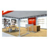 Supermarket Simple Style Shop Display Equipment , Shop Wall Fittings Floor Standing Clothing Hanging Manufactures