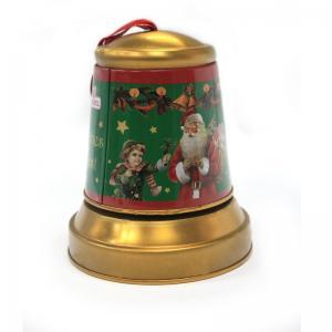 China Christmas Jingle Bell Tins for Candy on sale