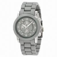 Fashionable Sports Watch with Metal Case and Plastic Strap, Japan Quartz Movement, New Style Arrive Manufactures