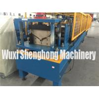 PLC Control Gutter Roll Forming Machine For Steel Roof Ridge Tile Cap Manufactures