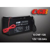 12V 120AH Non Spillable Valve Regulated Sealed Lead Acid Battery Rechargeble Waterproof Cable Manufactures