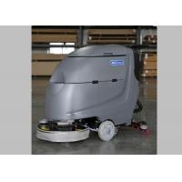 20 Inch Brush Walk Behind Floor Scrubber Floor Washers Scrubbers With Deep Gray Body Manufactures