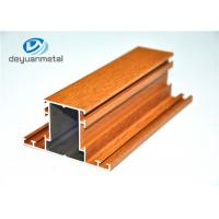 Mill Finished / Wood Grain Extruded Aluminum Shapes Aluminium Extrusion Profile Manufactures