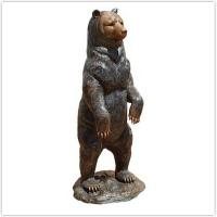 Classical Cast Iron Garden Ornaments / Metal Outdoor Bear Statues Manufactures