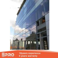 Shopping Mall Curved Glass Curtain Wall , Stainless Steel Curtain Wall Manufactures