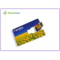Gift Credit Card USB Storage Device / 512MB Large Capacity Thumb Drive full Color Logo Printing Manufactures