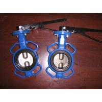 Universal Flange Wafer cast iron body Butterfly valve handle or gear operated Manufactures