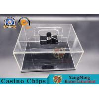 Texas Hold'em 400-yard Mobile Chip Box Thickened Full Transparent Chip Box Spot Club Dedicated Manufactures