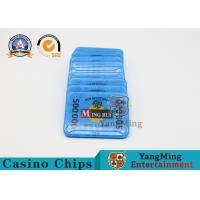 Gambling RFID Casino Chips / ABS Poker Chips Set With Uv Mark 13.56Mhz Manufactures