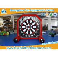 Plato material Inflatable Sport Games / Inflatable Foot Darts For Kids Manufactures