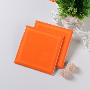 Smooth Glaze 6x6 Ceramic Wall Tile Bathroom Shower Tile Acid Resistant Orange Manufactures