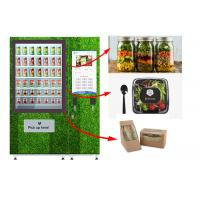 Touch Screen Refrigerated Salad Vending Machine , Healthy Food Vending Locker With Lift Manufactures