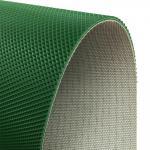 PVC belt 1.6mm green diamond top baggage conveyor belt Manufactures