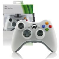 China Wired Gamepad XBOX 360 Game Controller White Color Two Vibration Feedback Motors on sale